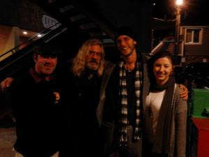 Seth Walker hangs outside the Noname Bar with Boulder Poets