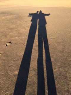shadows at the dunes